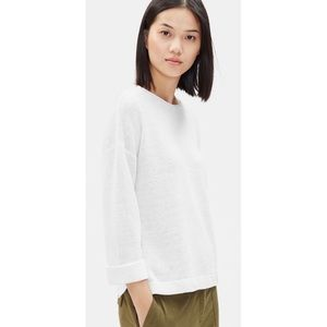 Eileen Fisher Boxy Round Neck Knit Sweater